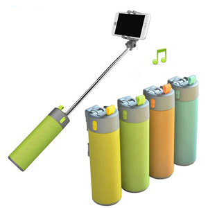 Multifunction Portable Outdoor Bluetooth Speaker with Power Bank,Selfie Stick Monopod-Ghkart